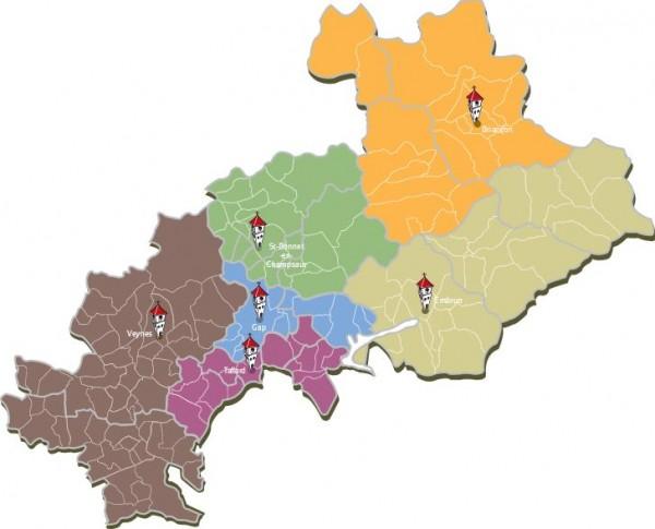 carte paroisses