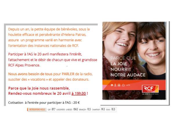 Assemblée générale de la radio RCF Alpes Provence