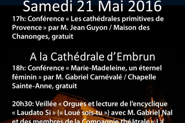 Nuit des Cathédrales à Embrun le samedi 21 mai