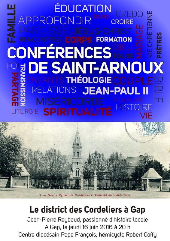 Conférence sur le district des Cordeliers à Gap