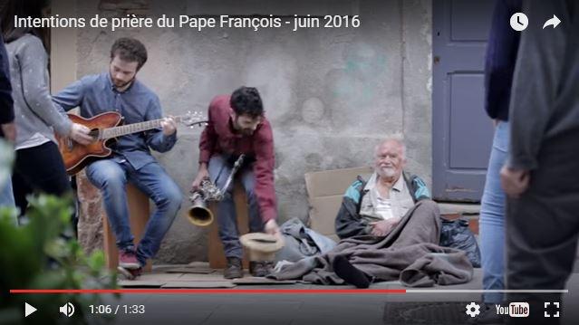 Clip du pape François pour ce mois de juin : la solitude des personnes âgées et malades