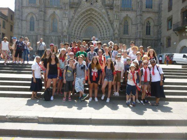 Des jeunes de l'aumônerie à Barcelone