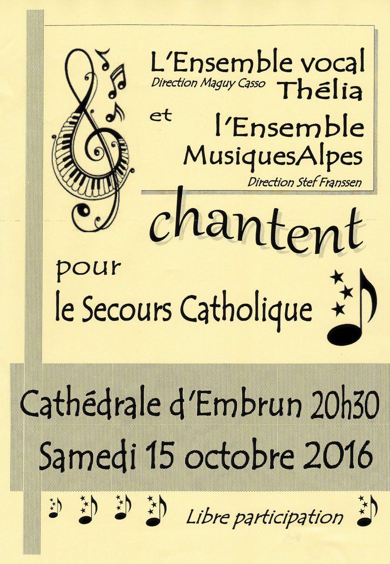 Concert au profit du Secours catholique