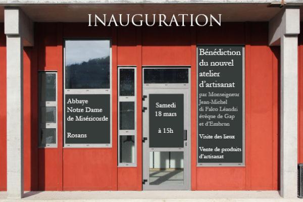 Inauguration de nouveaux ateliers monastiques