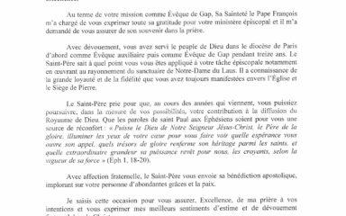Décret de nomination et lettre du cardinal Ouellet