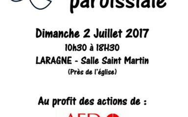 Braderie paroissiale à Laragne au profit de l'AED