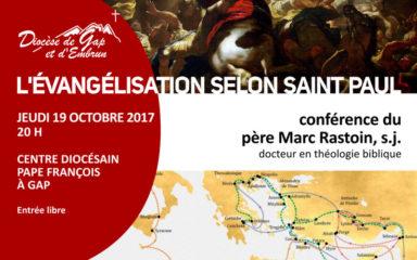 """""""L'évangélisation selon saint Paul"""" par Marc Rastoin au Centre diocésain"""