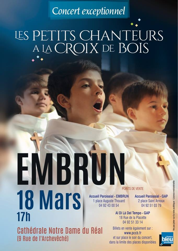 Concert à Embrun des Petits Chanteurs à la Croix de Bois