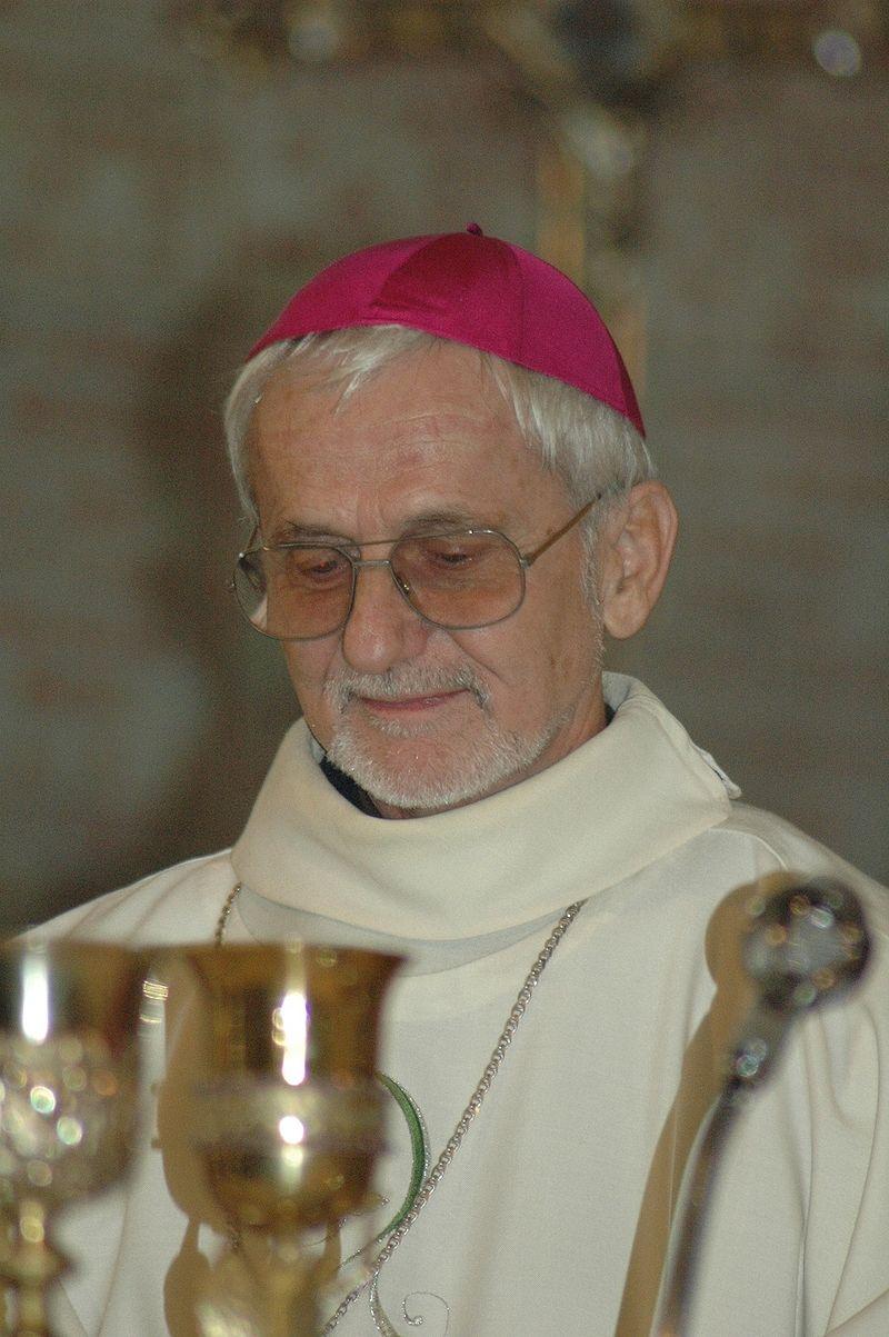 Mgr Claude Rault au sanctuaire Notre-Dame-du-Laus