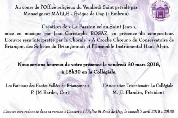 Vendredi Saint à Briançon présidé par Mgr Xavier Malle