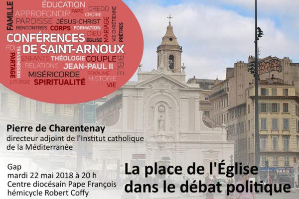 Conférence sur la place de l'Église dans le débat politique
