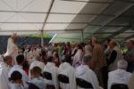 Mgr Xavier Malle au Laus fête Marie, mère de l'Église, avec les jubilaires