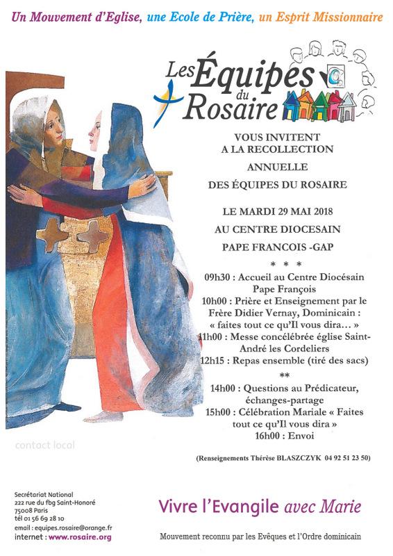 Récollection annuelle des Équipes du Rosaire