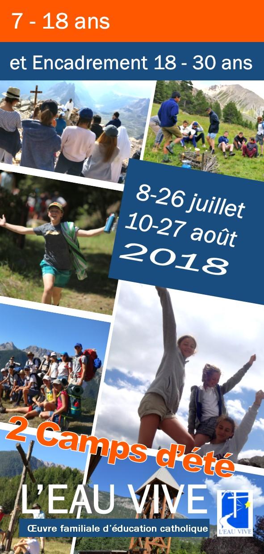 Les camps d'été proposés par L'Eau Vive à Briançon