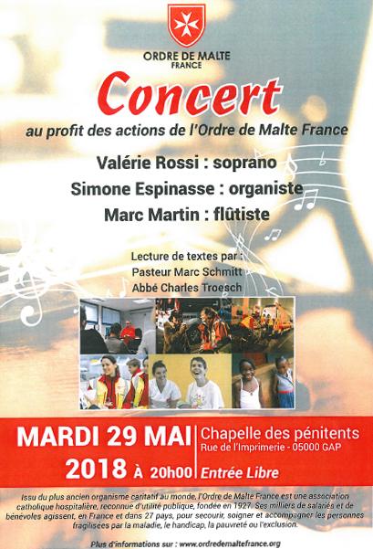 Concert à Gap au profit de l'ordre de Malte France