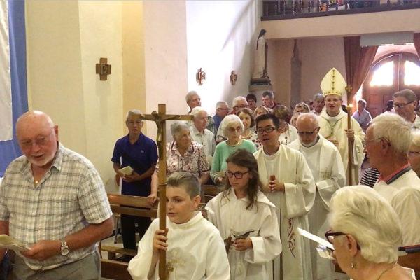 Mgr Xavier Malle à La Saulce pour la fête patronale