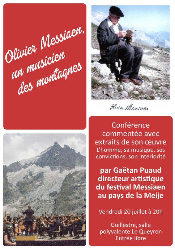 affiche conférence Messiaen, un musicien des montagnes