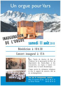 flyer inauguration orgue vars