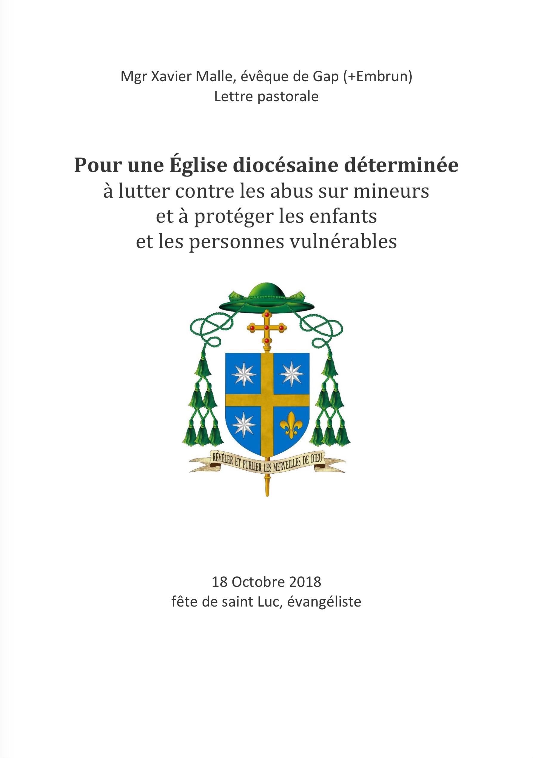 Communiqué de Mgr Xavier Malle concernant le frêre dominicain Dominique Cerbelaud