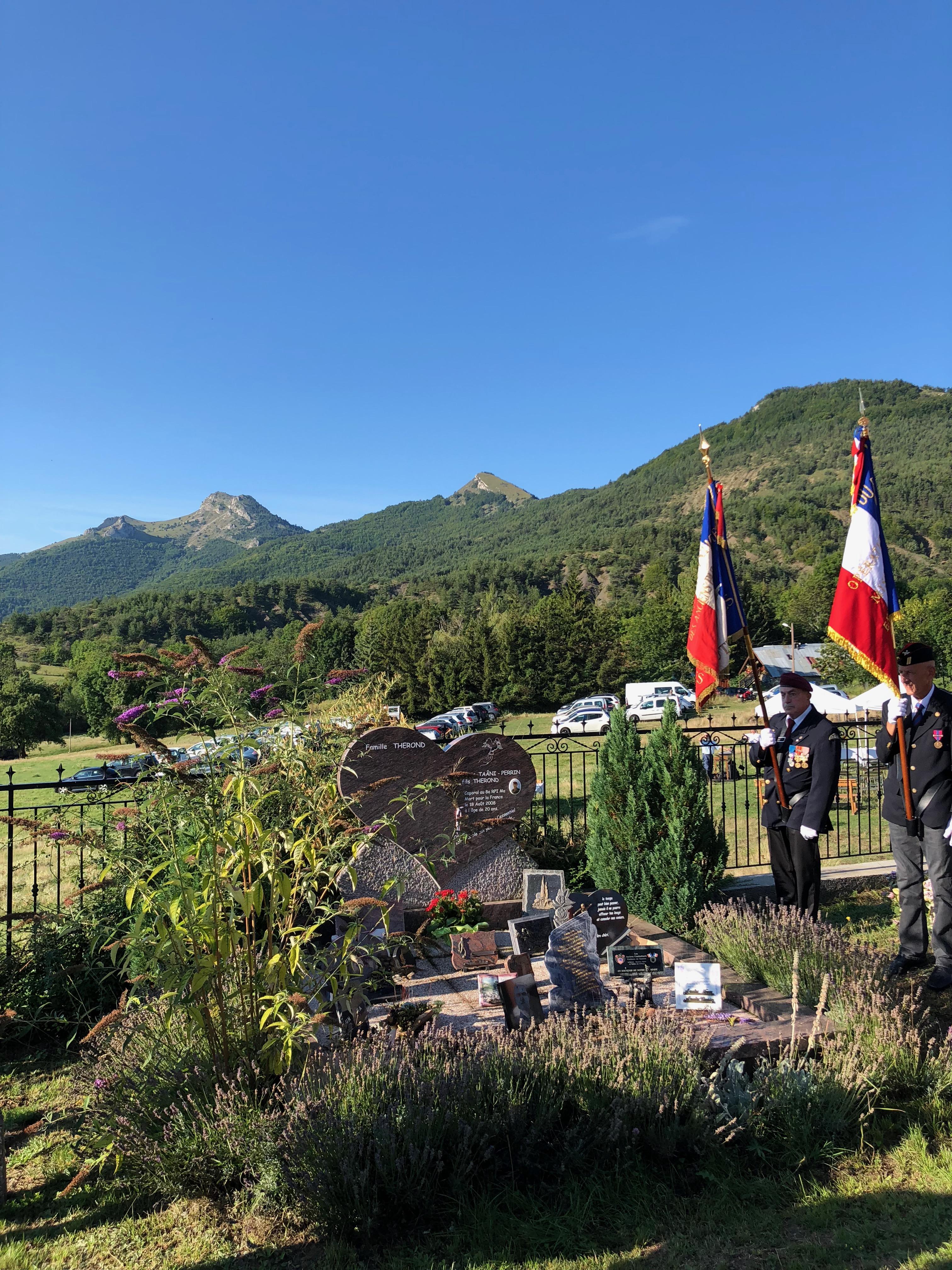 18 août 2018 au Col d'Espréaux – commémoration des 10 ans de l'embuscade d'UZBIN