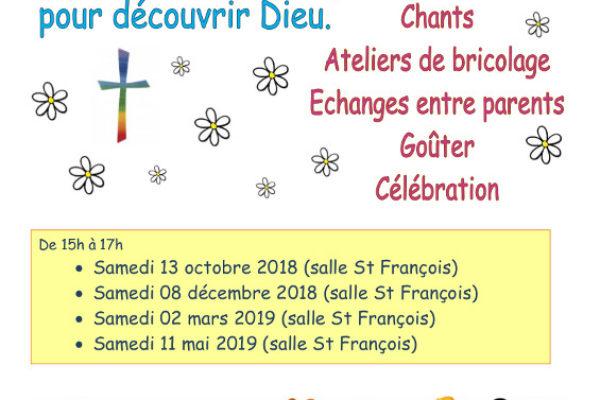 Les rencontres d'éveil à la foi de la paroisse Saint-Arnoux
