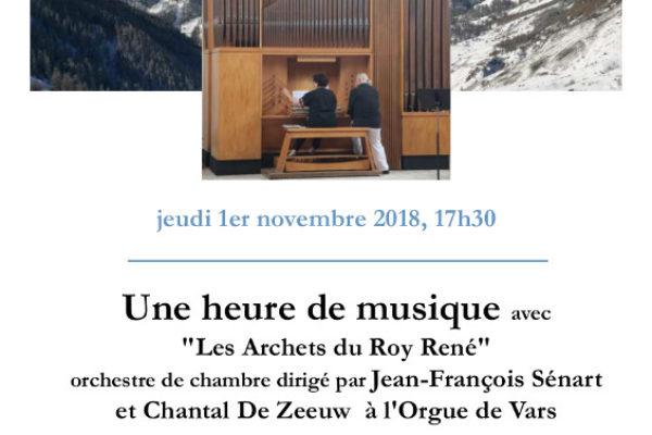 Une heure de musique autour de l'orgue de Vars