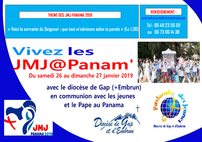 Les JMJ, au Panama… et dans le diocèse