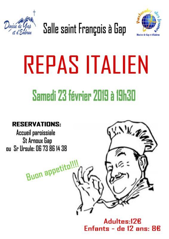 Viva Italia ! Dîner italien pour financer le voyage à Rome !