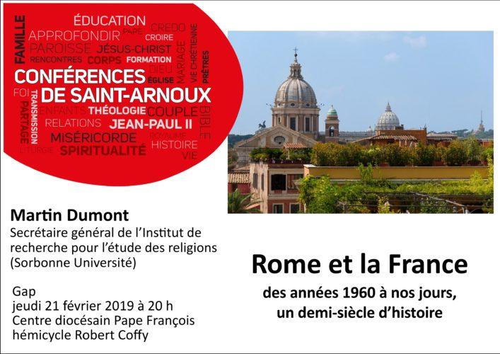 """Conférence """"Rome et la France, des années 1960 à nos jours"""" par Martin Dumont, 21 février"""