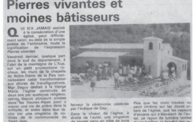 Homélie dimanche 5 mai 2019 à La Laure ND de la Pentecôte à Montmorin