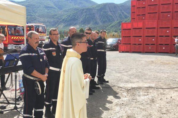 """REPLAY le 15 aout en la paroisse de La Saulce à """"Notre-Dame de la Route"""" et bénédiction des pompiers"""