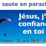 22 aout 2019 Mgr Malle saute en parachute pour les vocations
