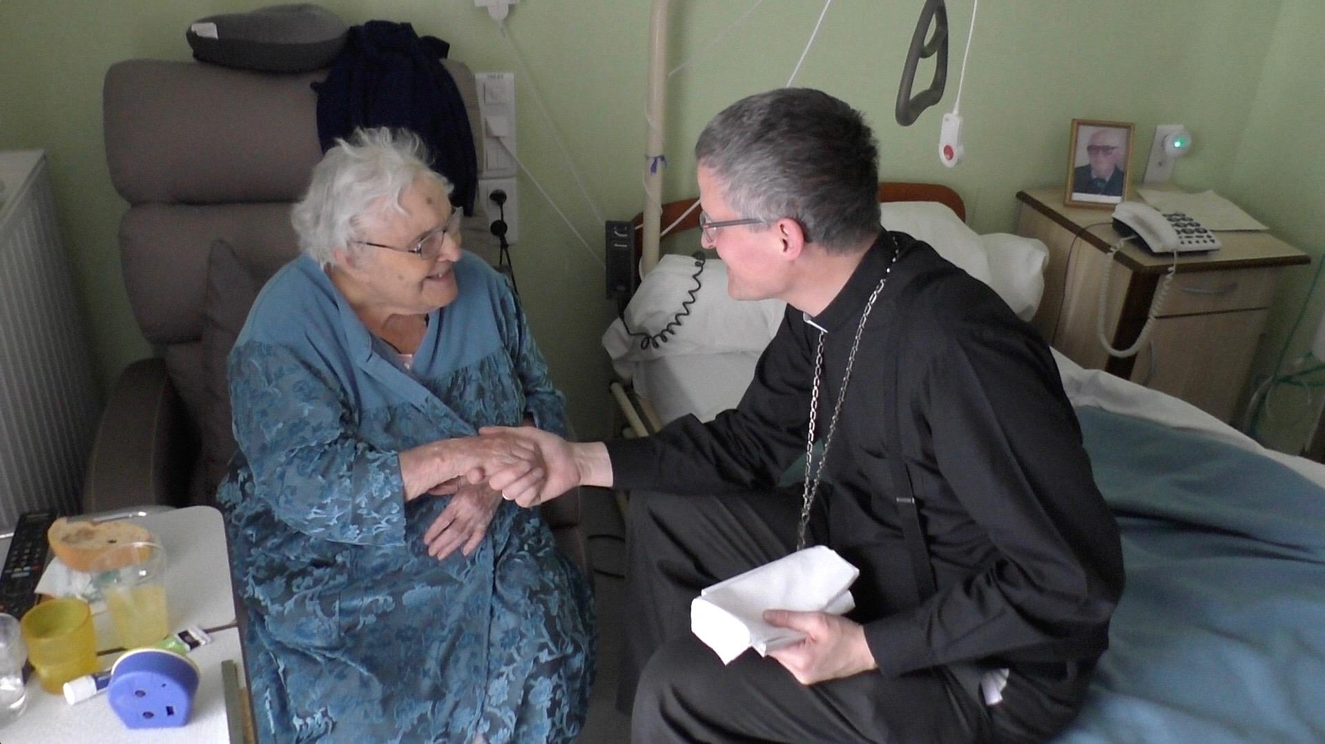 Mgr Malle en visite pastorale à La Saulce