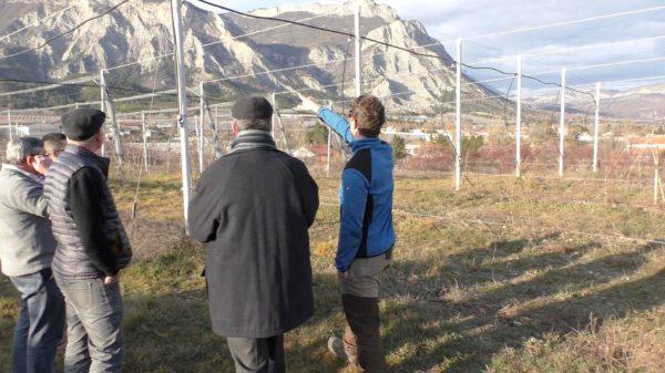 Mgr Malle en visite à l'exploitation Rolland