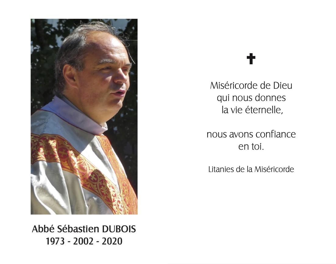 In memoriam – Abbé Sébastien Dubois