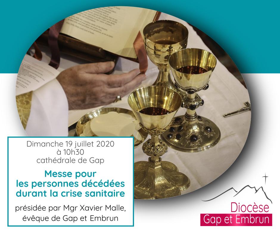 Messe pour les défunts de la Pandémie dimanche 19 juillet 2020