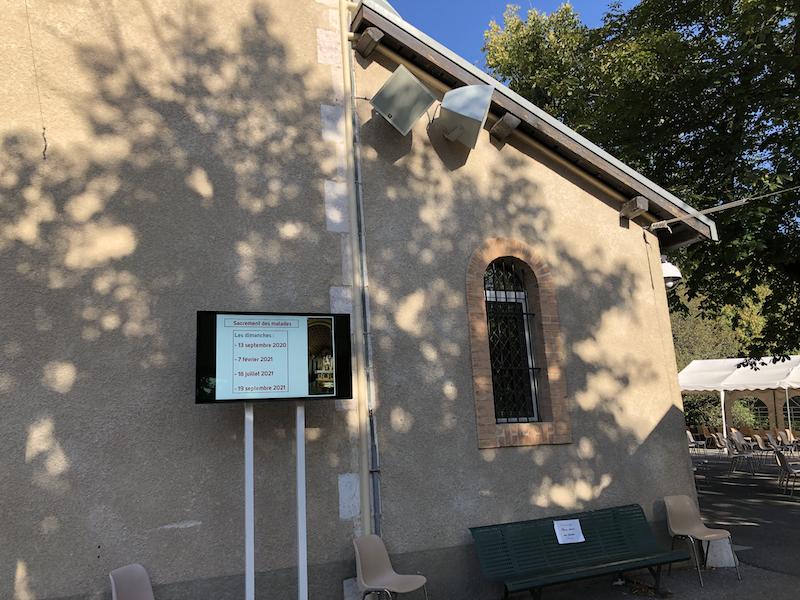 Un système vidéo et sono intégré, installé au sanctuaire ND du Laus