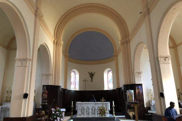 30 août 2020 Saint Julien en Champsaur – Homélie Mgr Xavier Malle – bénédiction des travaux de peinture intérieure de l'église