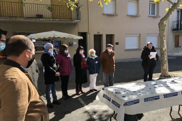 Bénédiction des nouveaux locaux du Secours Catholique à Laragne