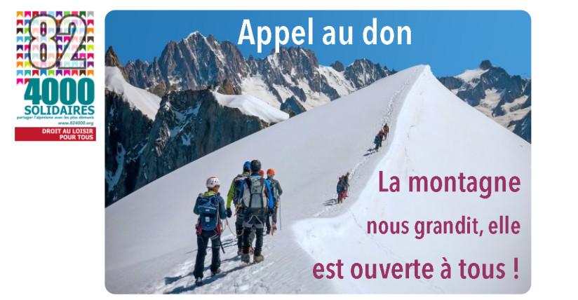 Aidez 82-4000 à élargir l'accès à la montagne