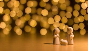 Un Noël en toute simplicité : une petite crèche toute simple.