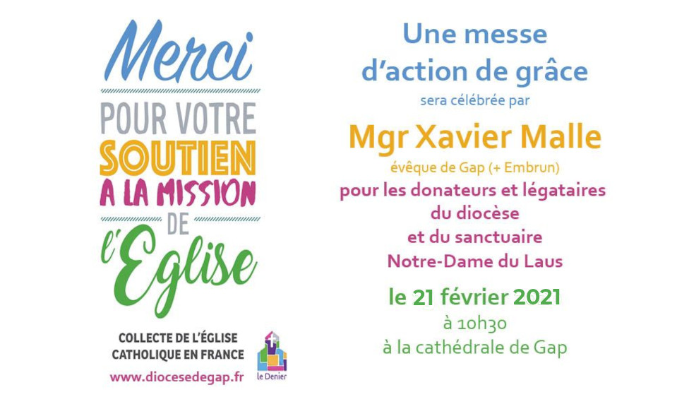 Mgr Xavier Malle vous remercie