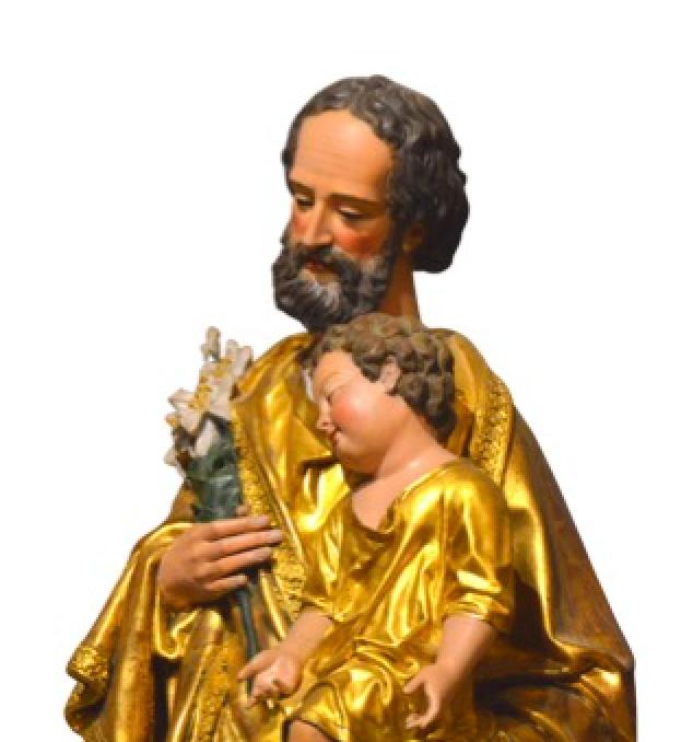 Joseph, en continuant de protéger l'Église, continue de protéger l'Enfant et sa mère, et nous aussi en aimant l'Église nous continuons d'aimer l'Enfant et sa mère. 19 mars 2021 au Laus – homélie Mgr Xavier Malle