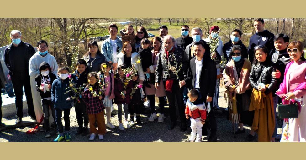 Célébration des Rameaux dans le secteur de La Saulce