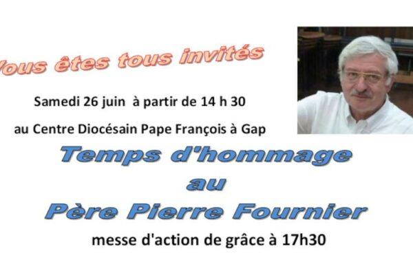 Temps d'hommage au Père Pierre Fournier