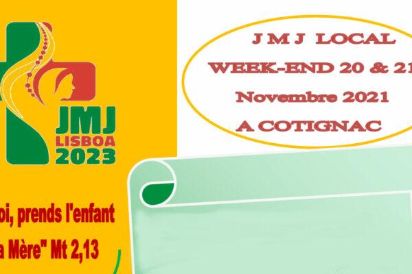 Les Journées mondiales de la jeunesse locales à Cotignac les 20 et 21 novembre 2021