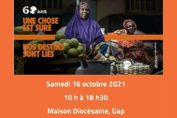 Le  CCFD-Terre Solidaire fête ses 60 ans au Centre diocésain le 16 octobre 2021
